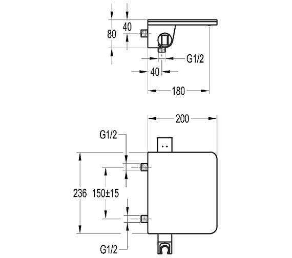 Technical drawing QS-V27063 / ANWMTBSM