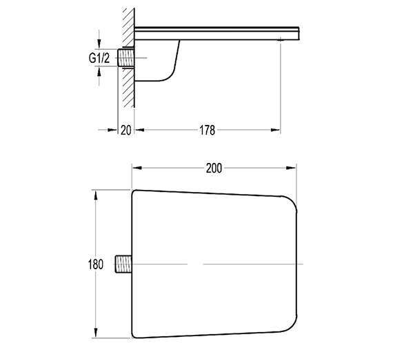 Technical drawing QS-V27064 / ANWSPOUT
