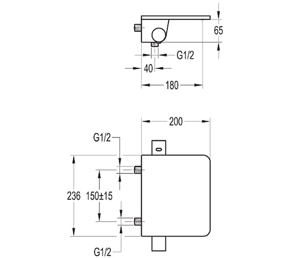 Technical drawing QS-V27075 / ANTWMBSMGL