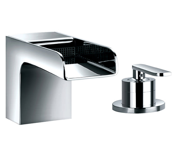 Flova Cascade 2 Hole Deck Mounted Bath Filler Mixer Tap