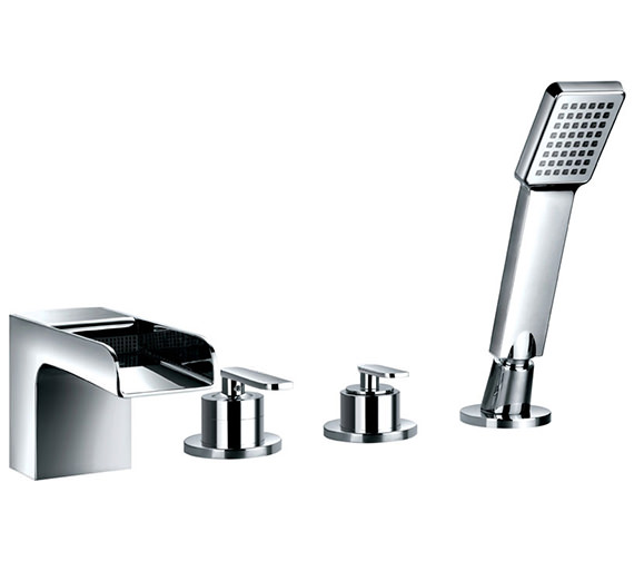 Flova Cascade 4 Hole Bath-Shower Mixer Tap With Handset And Hose
