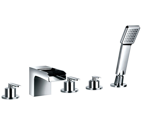 Flova Cascade 5 Hole Bath-Shower Mixer Tap With Handset And Hose