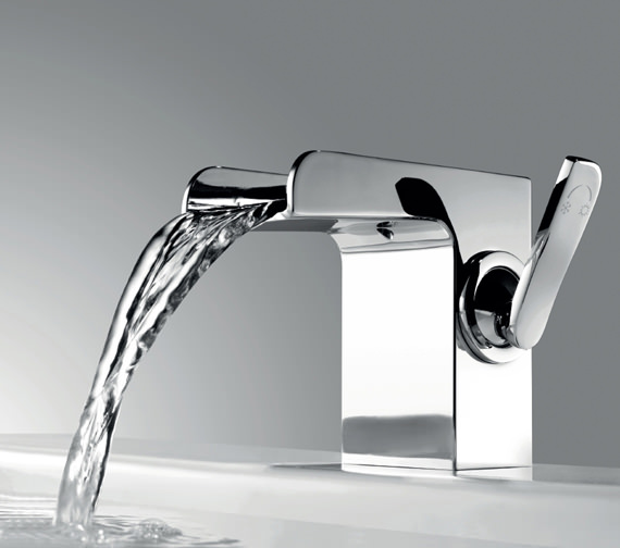 Flova Cascade 110mm High Basin Mixer Tap With Clicker Waste