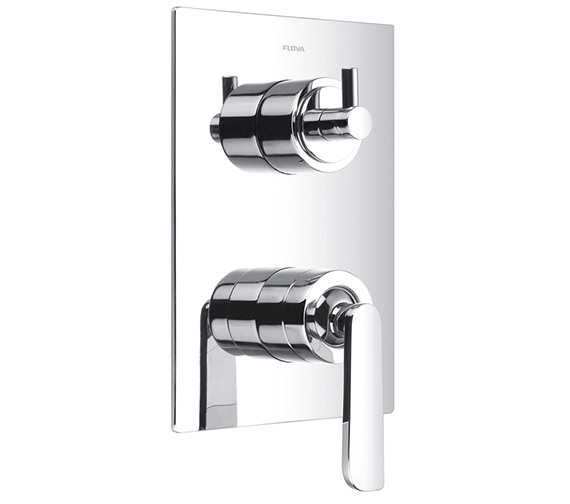 Alternate image of Flova Essence Manual Valve With Diverter-Dual Overhead Shower And Kit