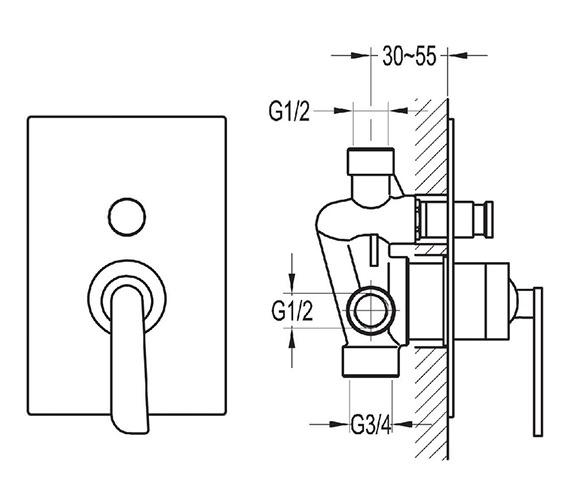 Technical drawing QS-V27092 / CASHVO/DIV