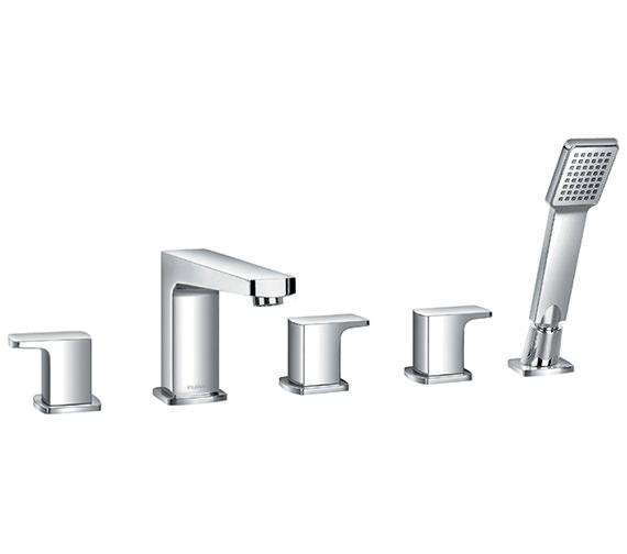Flova Dekka 5 Hole Bath-Shower Mixer Tap With Handset And Hose