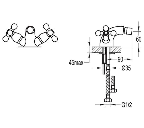 Technical drawing QS-V27100 / ELBID