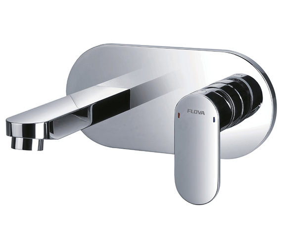 Flova Smart Wall Mounted Basin Mixer Tap With Clicker Waste