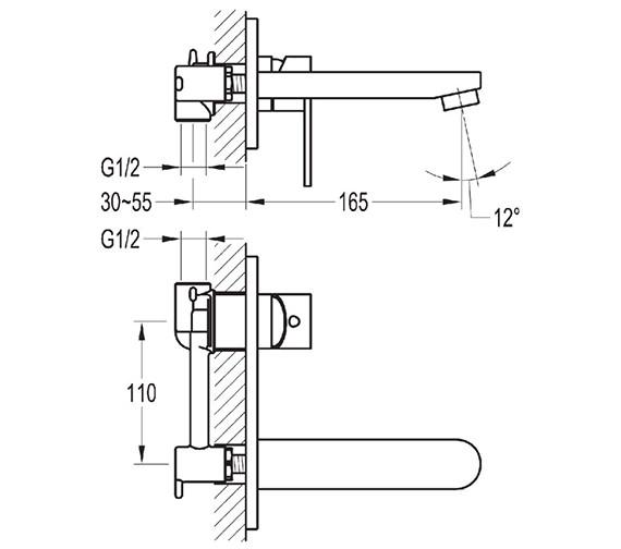 Technical drawing QS-V27109 / SM2HBAS