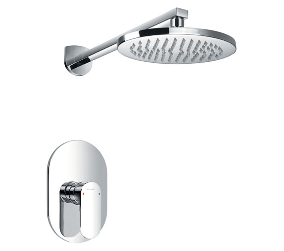 Flova Smart Manual Valve With Overhead Shower And Arm