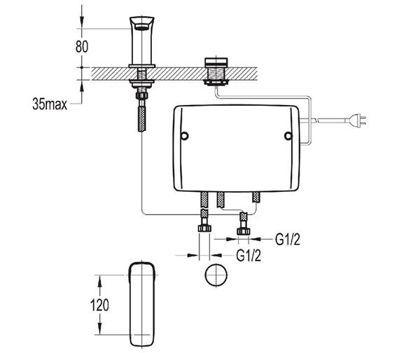 Technical drawing QS-V27124 / UREBAS