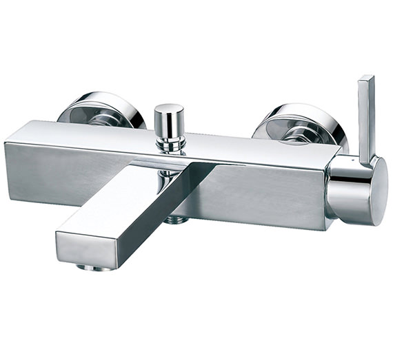 Flova Str8 Wall Or Deck Mounted Bath-Shower Mixer Tap With Handset And Hose