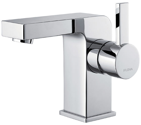 Flova Str8 Basin Mixer Tap With Clicker Waste - STBAS