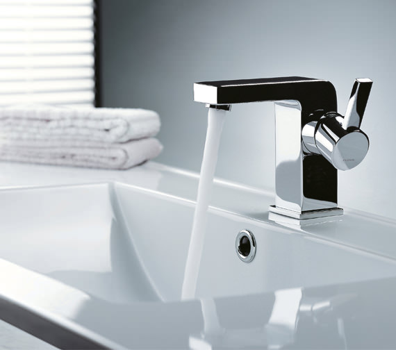 Alternate image of Flova Str8 105mm High Basin Mixer Tap With Clicker Waste