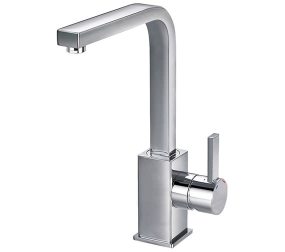Flova Str8 Swivel Spout Basin Mixer Tap With Clicker Waste