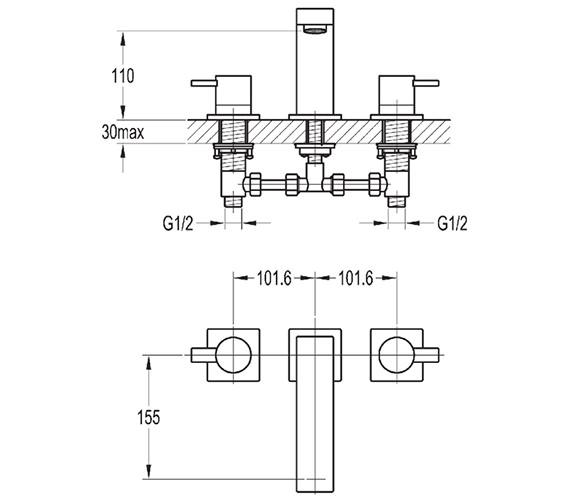 Technical drawing QS-V27141 / ST3HBF