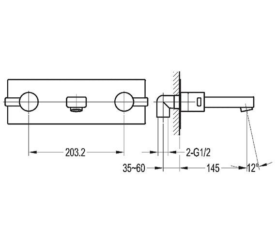 Technical drawing QS-V27142 / ST3HWMBAS