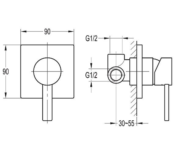 Technical drawing QS-V27144 / STSHVO
