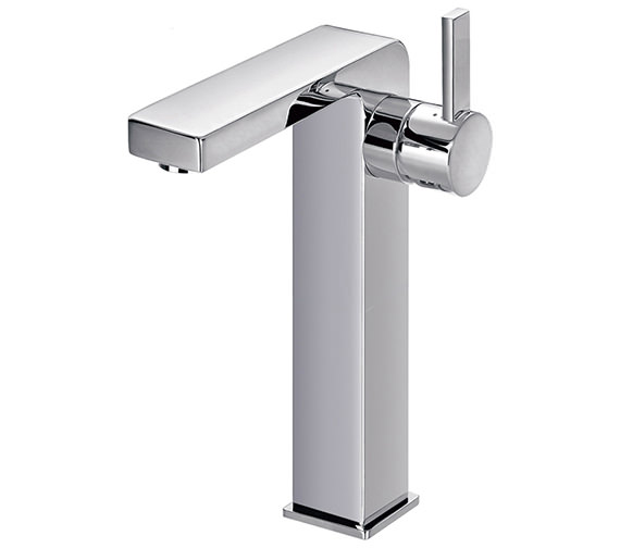 Flova Str8 Tall Basin Mixer Tap With Clicker Waste - STTBAS