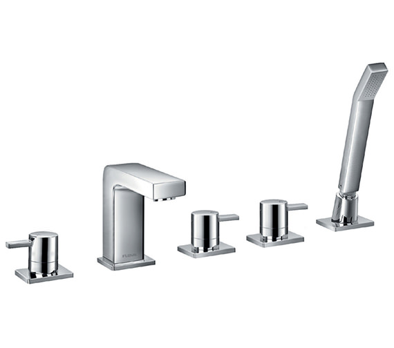 Flova Str8 5 Hole Bath-Shower Mixer Tap With Handset And Hose