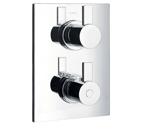 Alternate image of Flova Str8 Thermostatic Valve With Diverter-Dual Overhead Shower And Kit