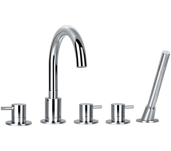 Flova Levo 5 Hole Bath-Shower Mixer Tap With Handset And Hose