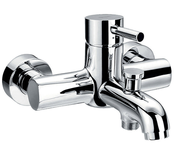 Flova Levo Wall Or Deck Mounted Bath-Shower Mixer Tap With Kit