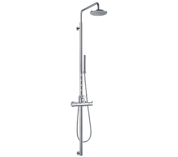 Flova Levo Thermostatic Shower Column With Overhead Shower And Jets