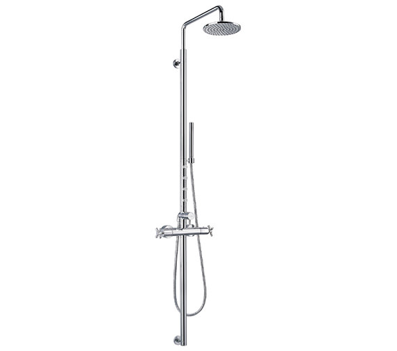 Flova XL Thermostatic Column With Overhead Shower And Jets