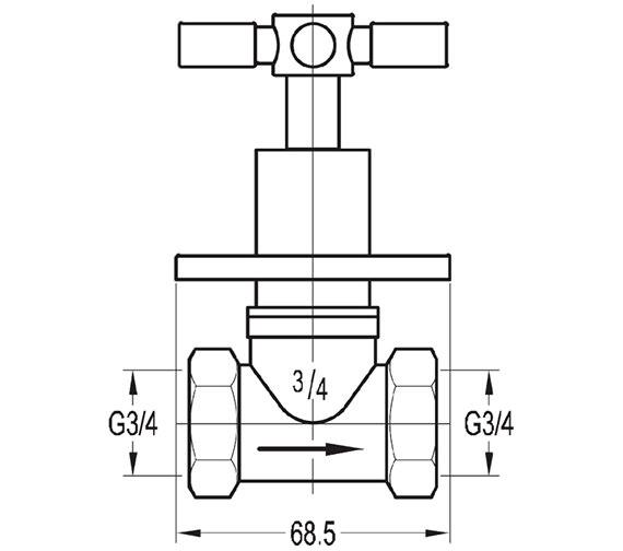 Technical drawing QS-V27185 / XLWMCONCW