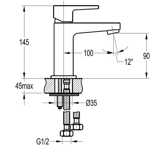 Technical drawing QS-V27190 / DESBAS