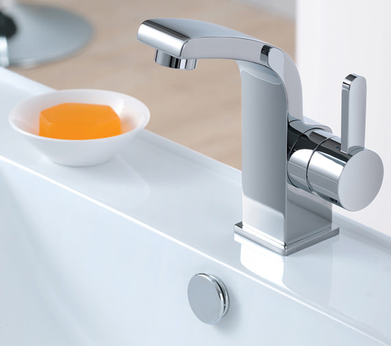 Flova Essence Cloakroom 132mm High Basin Mixer Tap With Clicker Waste