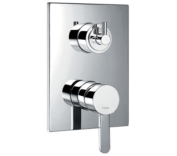 Flova Essence Concealed Manual Shower Valve With 3 Way Diverter