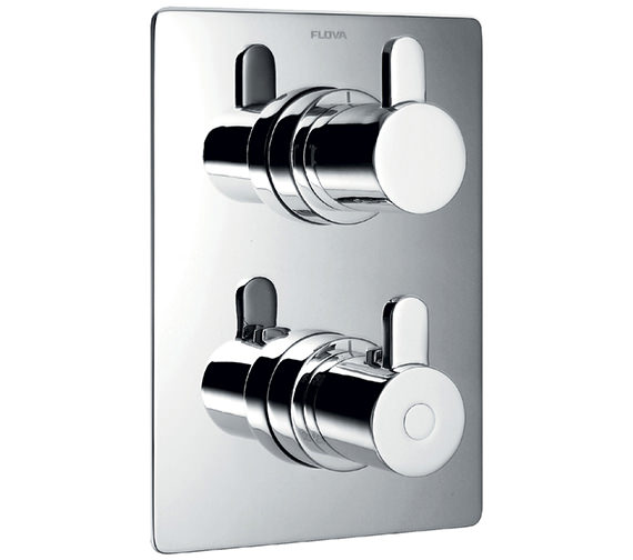 Alternate image of Flova Essence Thermostatic Valve With Diverter-Dual Overhead Shower And Kit