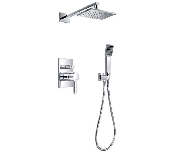 Flova Essence Manual Valve With Diverter-Overhead Shower And Handset Kit