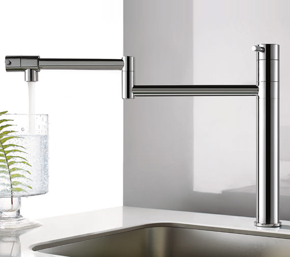 Additional image of Flova Levo Swivel Arm Single Lever Kitchen Sink Mixer Tap