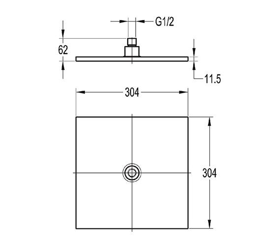 Technical drawing QS-V27239 / KI016A