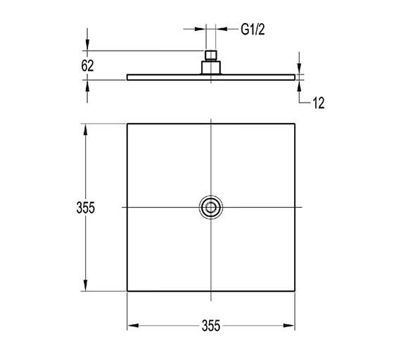 Technical drawing QS-V27240 / KI016B