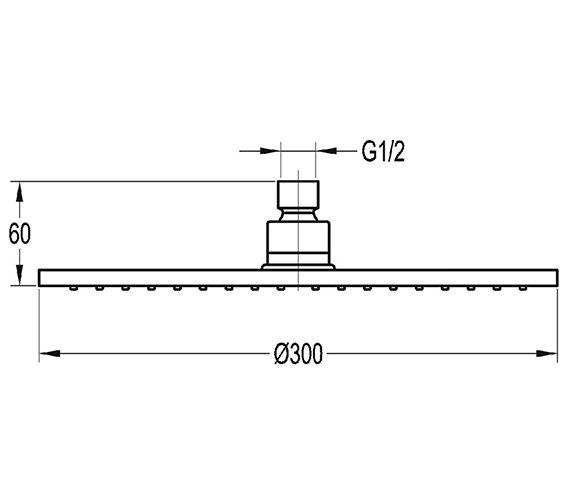 Technical drawing QS-V27243 / KI011B