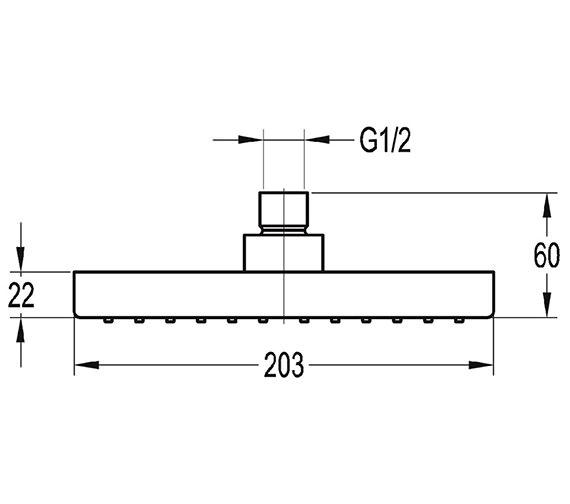 Technical drawing QS-V27249 / KI020A