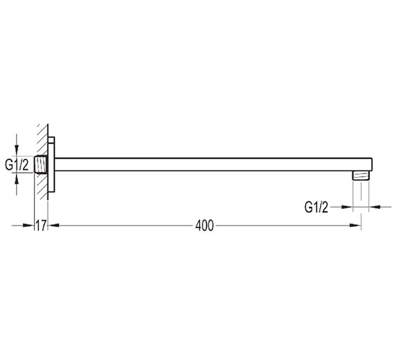 Alternate image of Flova Smart Manual Valve With Overhead Shower And Arm