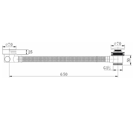 Technical drawing QS-V27289 / BF125EXT