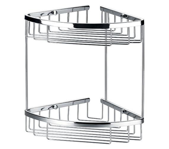 Flova Rack Brass Double Corner Basket - RA8961