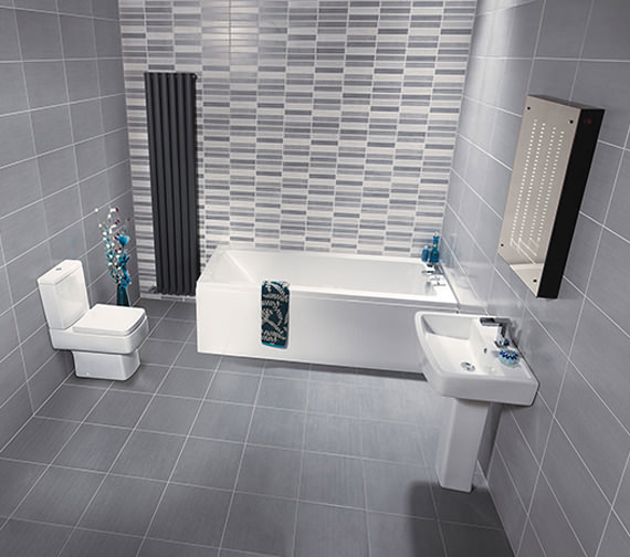 Nuie Premier Bliss Jewel Close Coupled WC With Cistern And Soft Close Seat