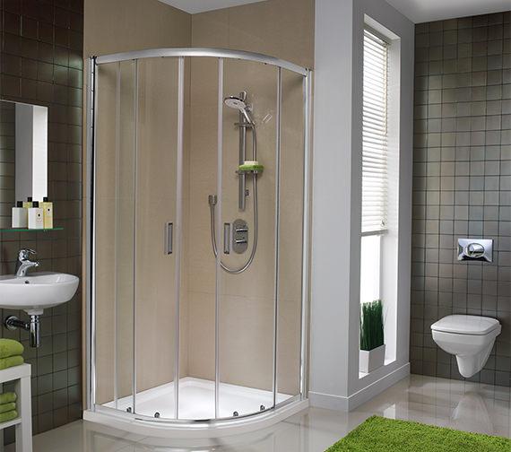 Additional image of Twyford ES200 Quadrant Shower Enclosure 900 x 900mm - ES25700CP