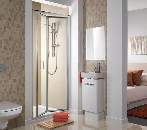 Additional image of Twyford ES200 Bi-Fold Shower Enclosure Door 800mm - ES24200CP