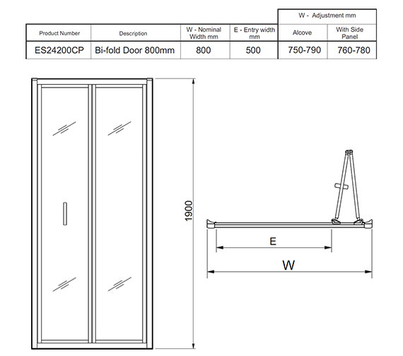 Technical drawing QS-V27463 / ES24200CP