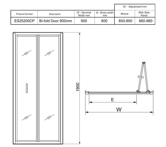 Technical drawing QS-V27464 / ES25200CP