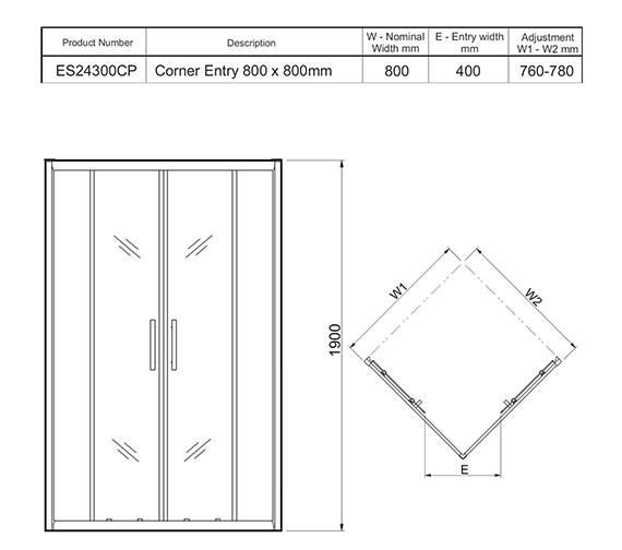 Technical drawing QS-V27465 / ES24300CP