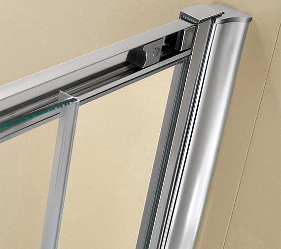 Beta Heat Electric 1150 X 600mm Curved Chrome Heated Towel: Twyford ES200 Sliding Shower Enclosure Door 1200mm